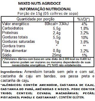 Mix Nuts (Mixed Nuts) Agridoce Premium - 1 Kilo
