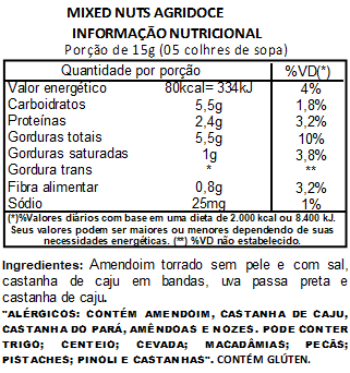Mix Nuts (Mixed Nuts) Agridoce Premium - 200 G