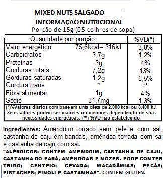 Mix Nuts (Mixed Nuts) Salgado Premium - 200 G