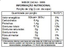 Nibs de Cacau - 500 g
