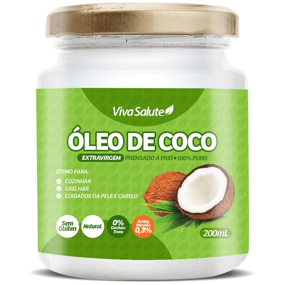 Óleo de Coco Extra Virgem Viva Salute - 200ml