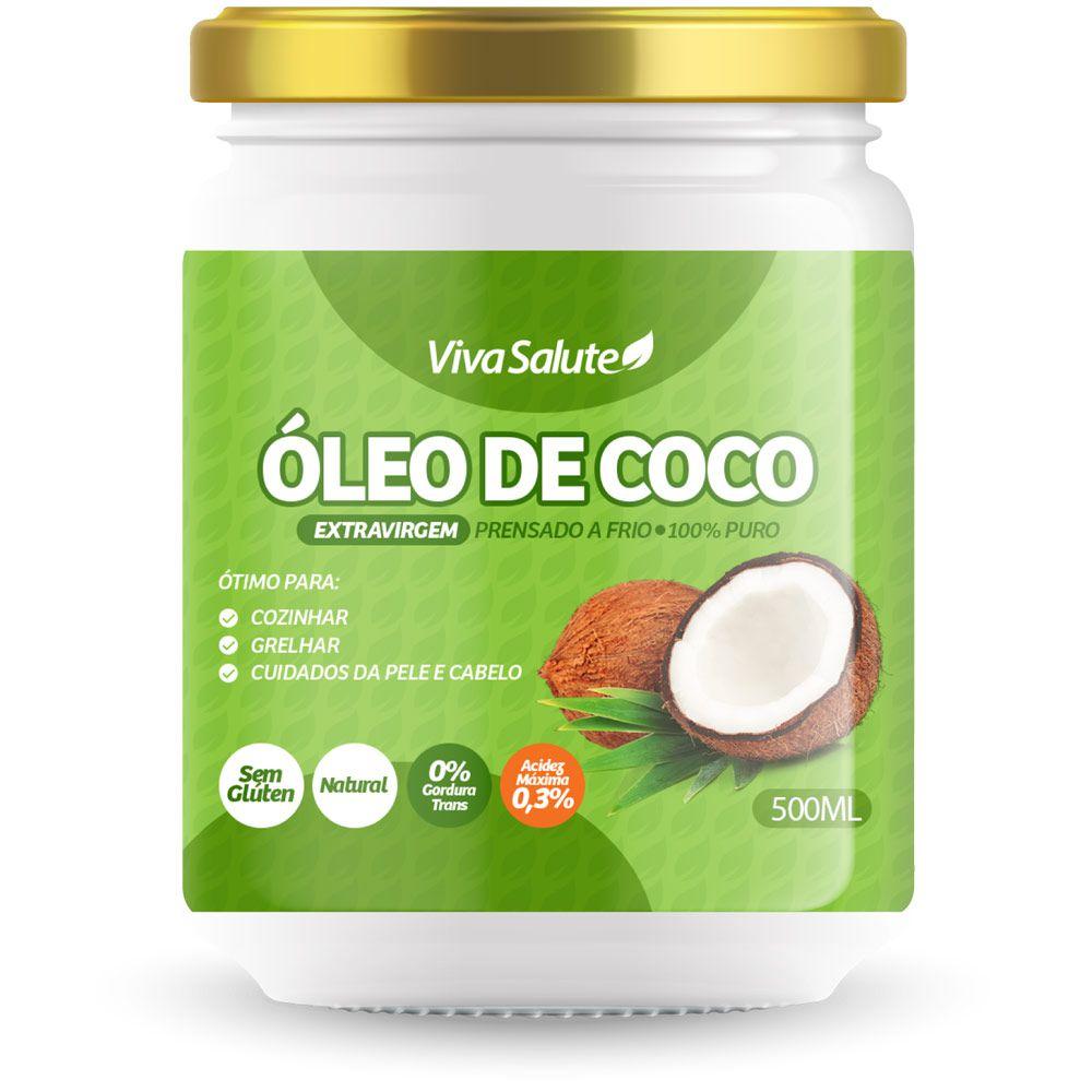 Óleo de Coco Extra Virgem Viva Salute - 500ml