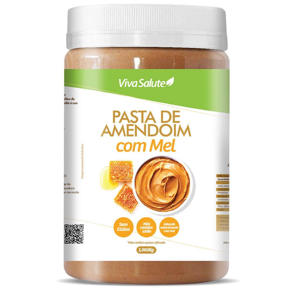 Pasta de Amendoim com Mel Viva Salute - 1Kg