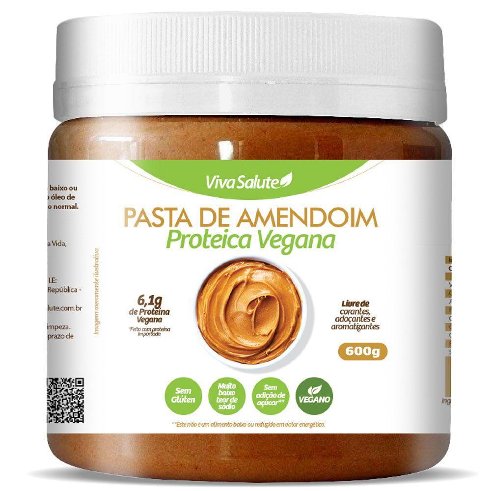 Pasta de Amendoim com Proteína Vegana e Xilitol Viva Salute - 500g