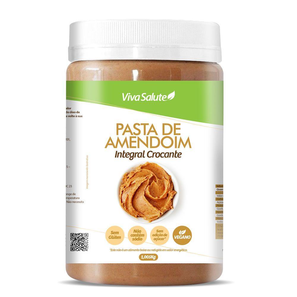 Pasta de Amendoim Integral Crocante Viva Salute - 1Kg