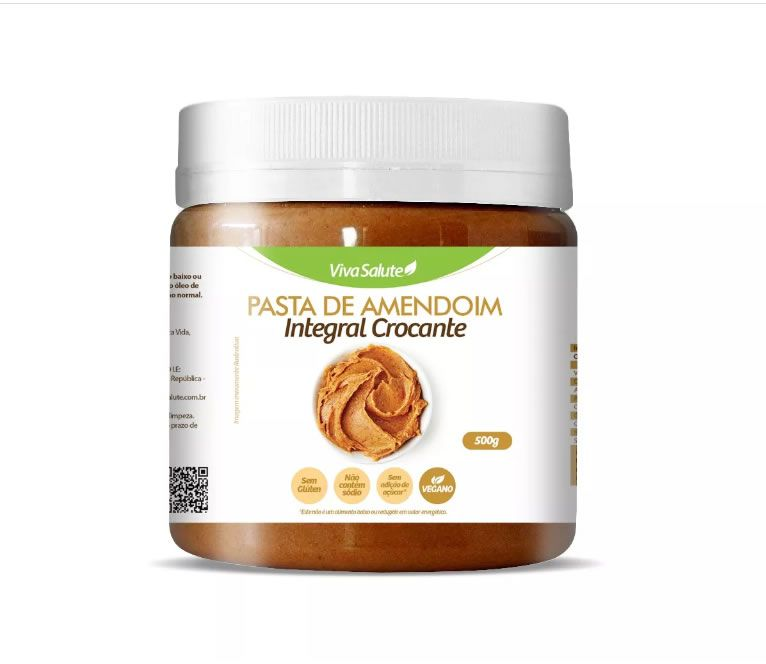 Pasta de Amendoim Integral Crocante Viva Salute - 500 g