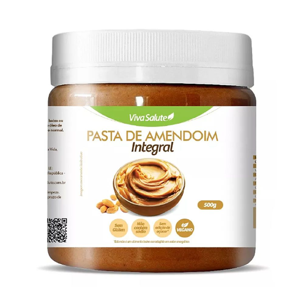 Pasta de Amendoim Viva Salute Integral - 500 g