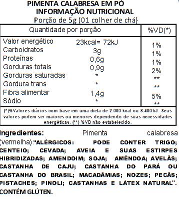 Pimenta Calabresa em Pó 1kg