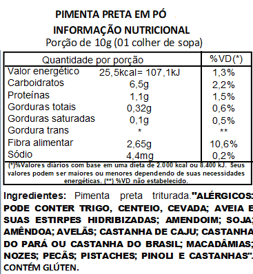 Pimenta Preta em Pó Pura Viva Salute - 1kg
