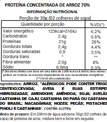 Proteína de Arroz Importada (Vegan Protein) - 500g