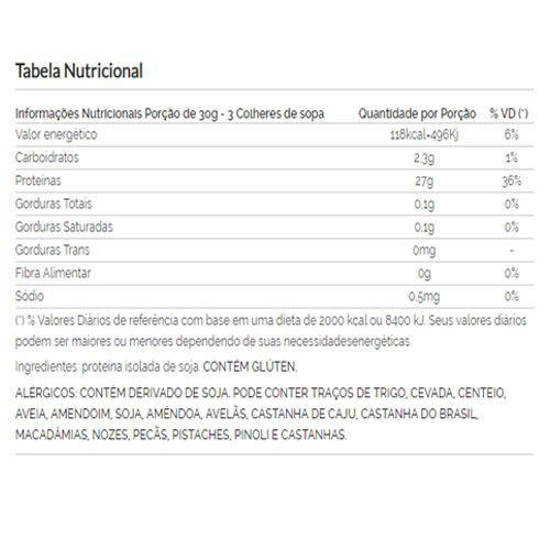 Proteína de Soja Isolada (90% PIS) Viva Salute - 500g