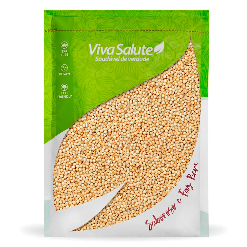 Quinoa em Grãos Viva Salute Embalada a Vácuo - 1Kg