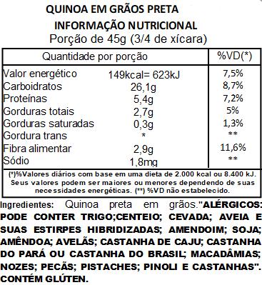 Quinoa Preta em Grãos Viva Salute - 1kg