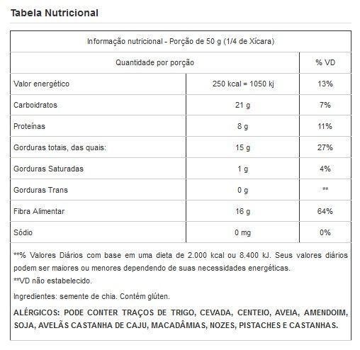 Semente de Chia Premium Selecionada a Vácuo - 1Kg