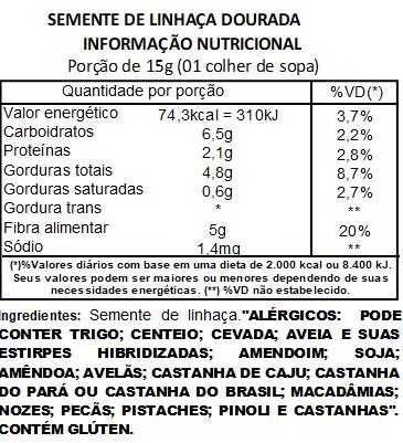 Semente de Linhaça Dourada Premium a Vácuo - 500g
