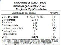 Torradinha Crocante de Alho - 100g