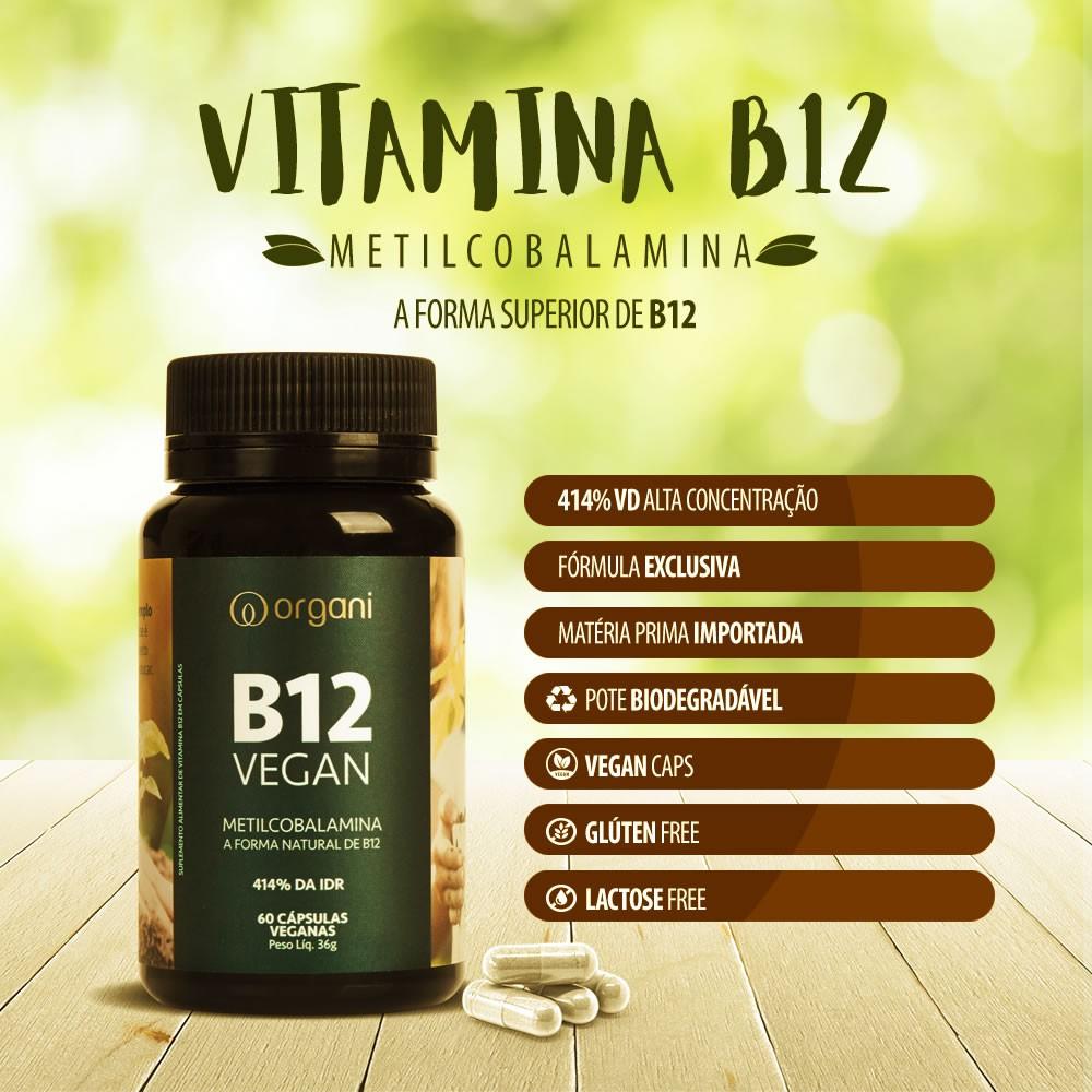 Vitamina B12 Metilcobalamina 414% Alta Concentração - Organi