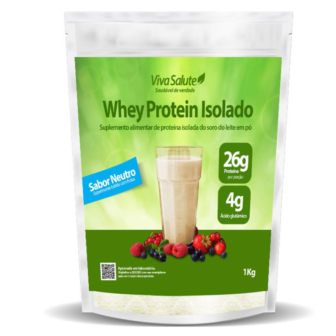 Whey Protein Isolado (WPI 90%) Viva Salute - 1Kg