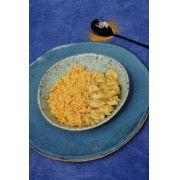 Frango ao Curry + Arroz de Couve Flor e Cenoura