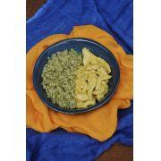 Frango com Mostarda + Arroz de Couve Flor e Brócolis