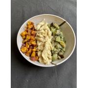 Frango Mostarda + Batata Doce + Mix de Legumes