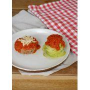 Polpetone + Spaghetti de Abobrinha com Molho de Tomate