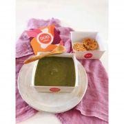 Sopa Verde + Torta Low Carb de Frango