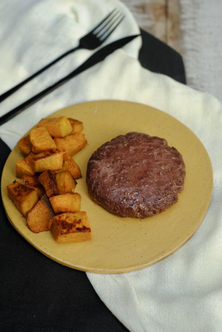 Hambúrguer de Fraldinha + Abóbora Cabotiá