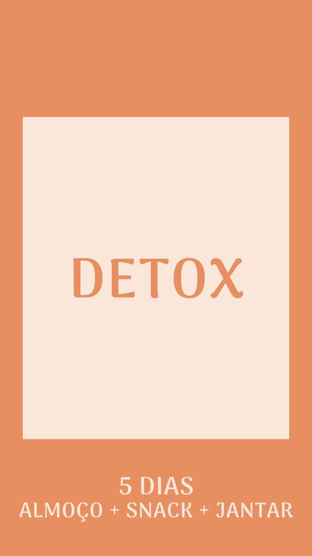 Kit Detox - 5 dias almoço, lanche da tarde e jantar
