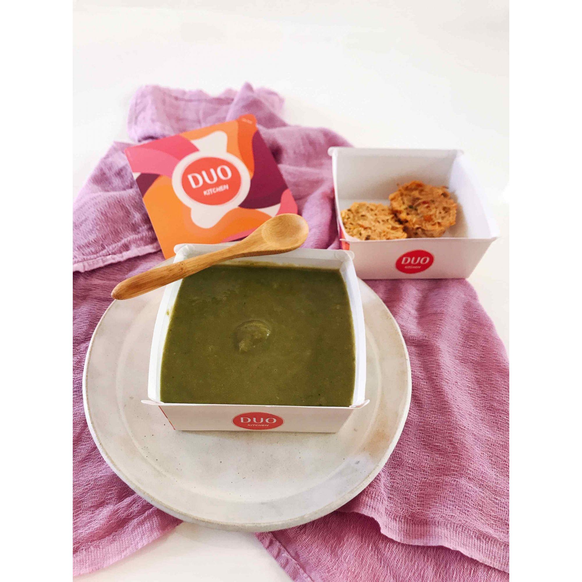 Sopa Detox + Torta Low Carb de Frango