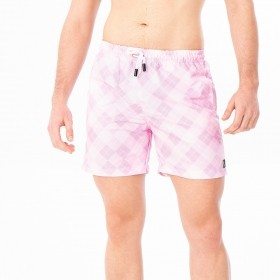 Bermuda geométrica em tons de rosa