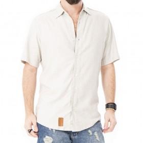 Camisa de linho bege