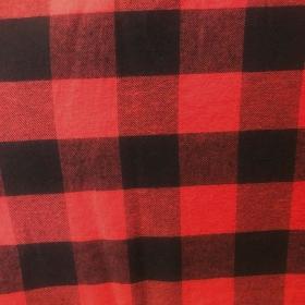 Camisa xadrez vermelha com preto