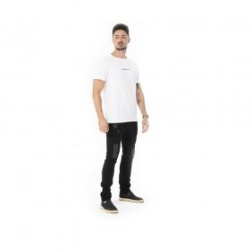 Camiseta branca algodao pima com estampa I need peace