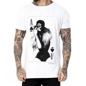 Camiseta branca estampa mulher gato