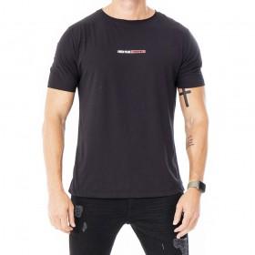 Camiseta preta algodao pima com estampa I need peace
