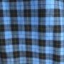 Camisa xadrez azul com preto com capuz