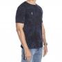 Camiseta marmorizada com azul