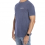 Camiseta stonada azul com estampa Forinc branca