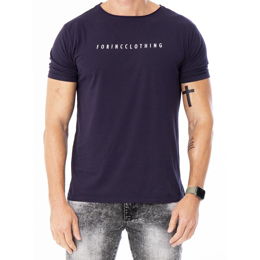 Camiseta azul marinho básica algodão pimã