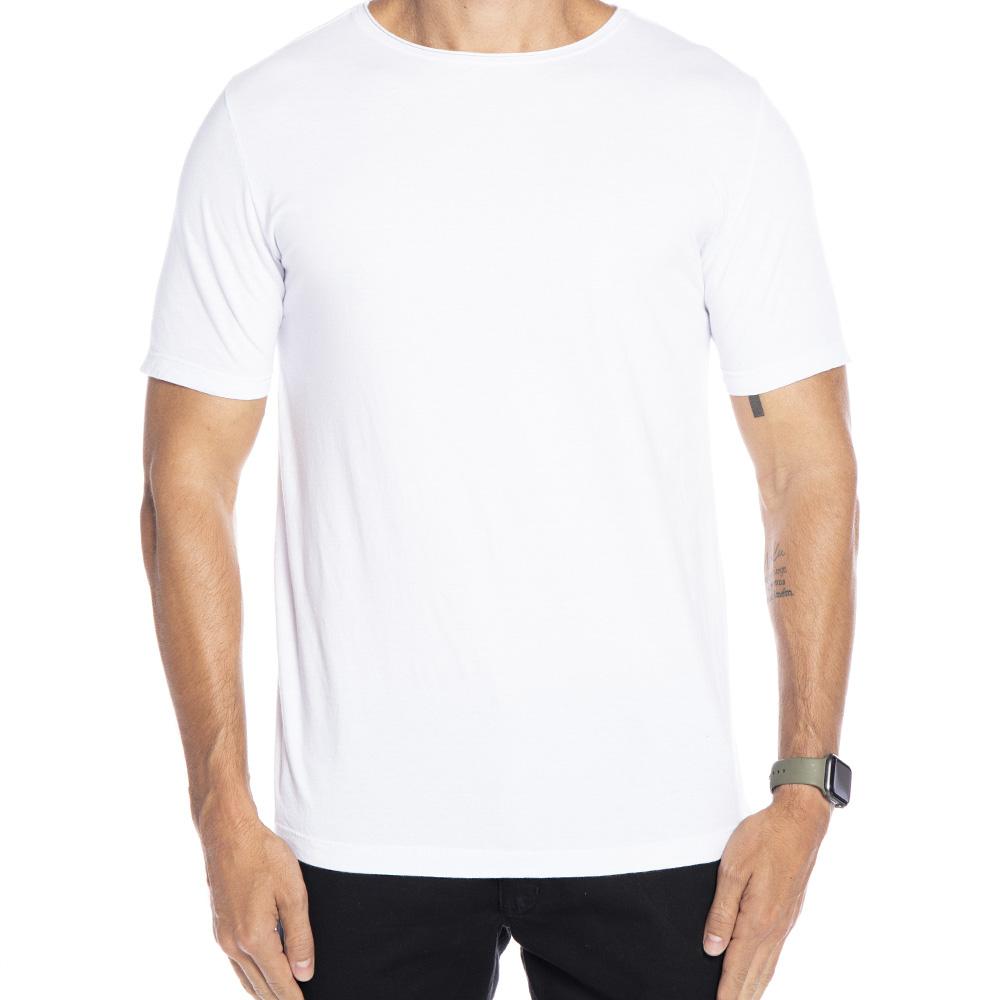 Camiseta branca estampa Blessed nas costas