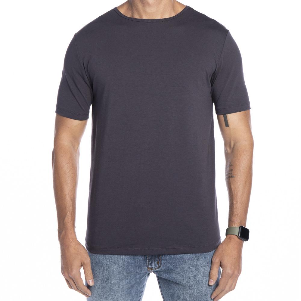 Camiseta cinza chumbo Básica Supimã
