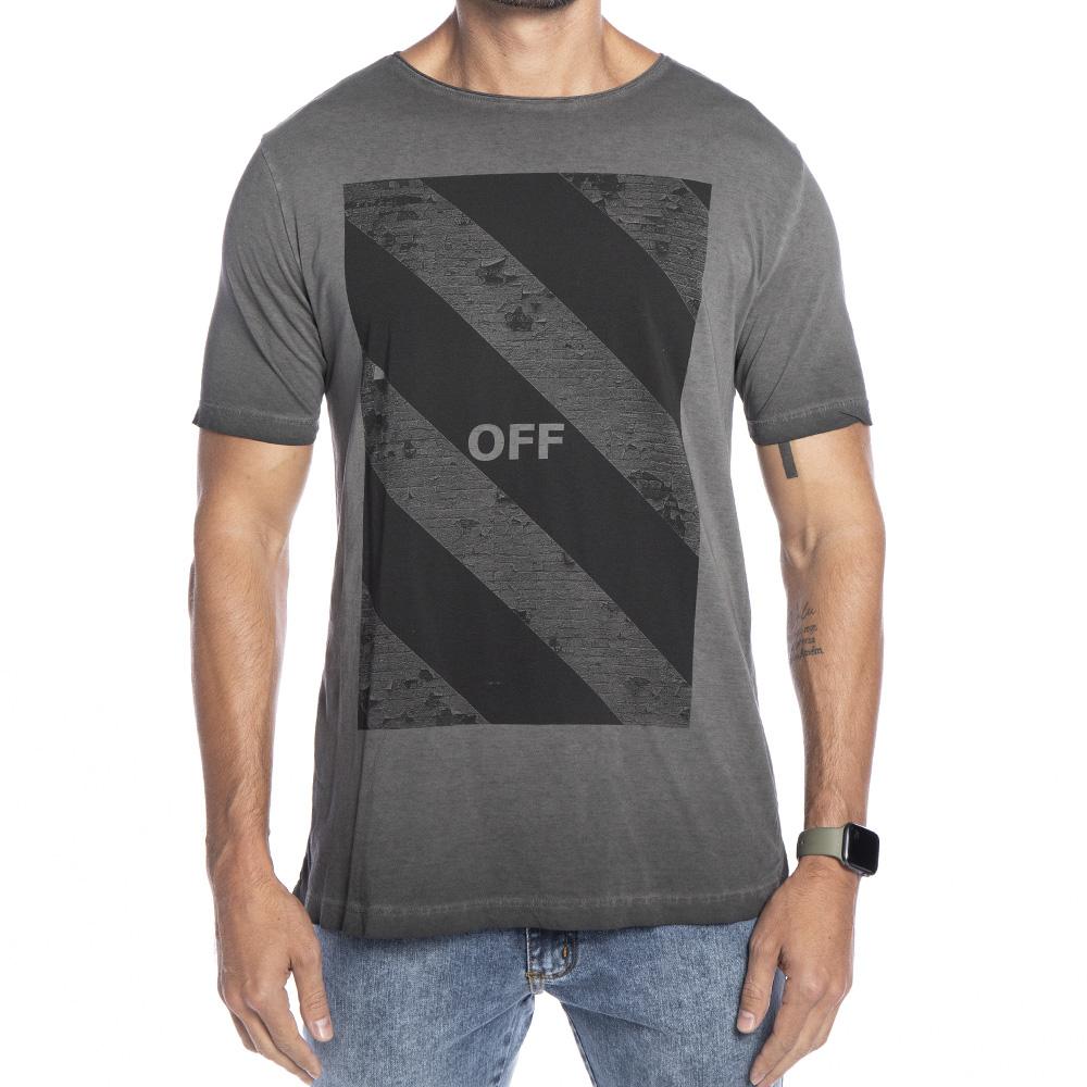 Camiseta cinza estampa Off