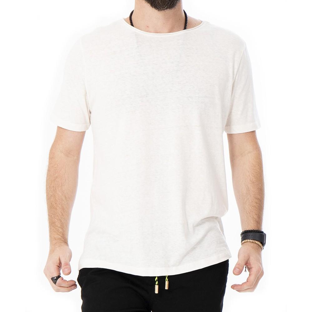 Camiseta de linho sem bolso