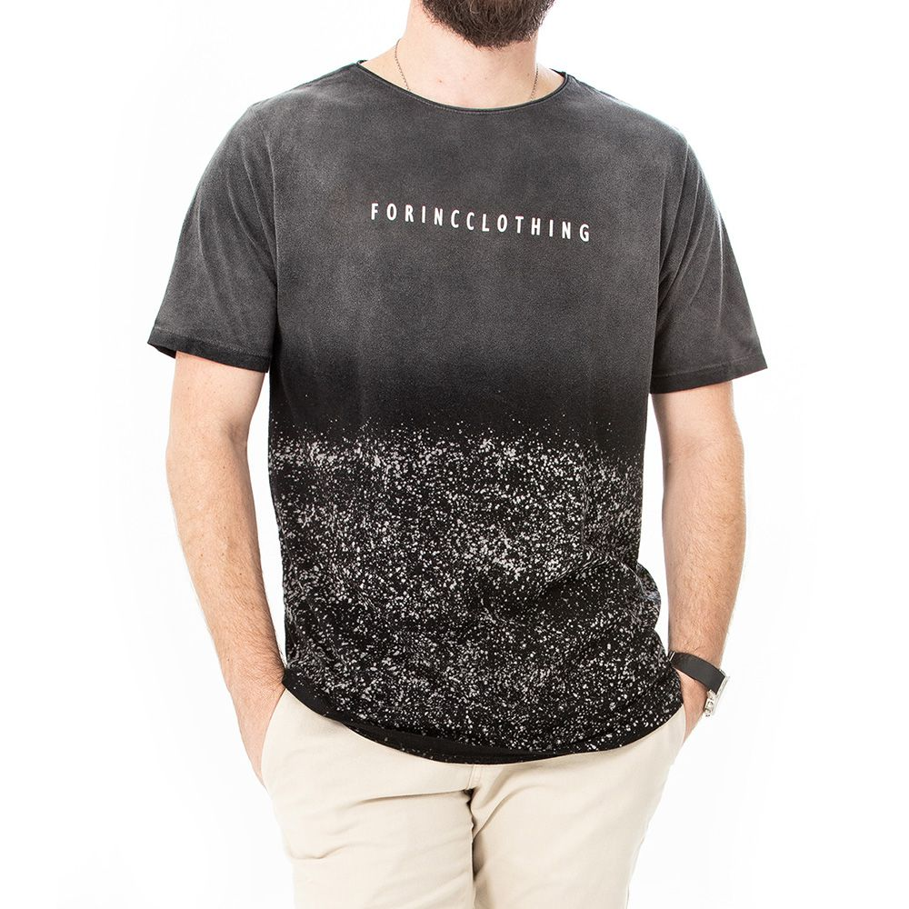 Camiseta degradê respingos
