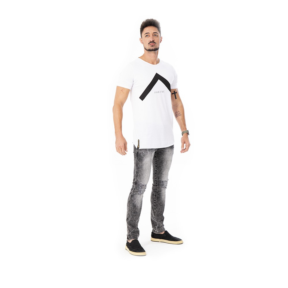 Camiseta long line estampada forinc