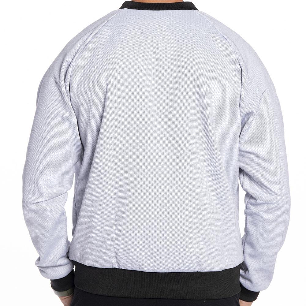 Jaqueta bomber branco gelo com preto