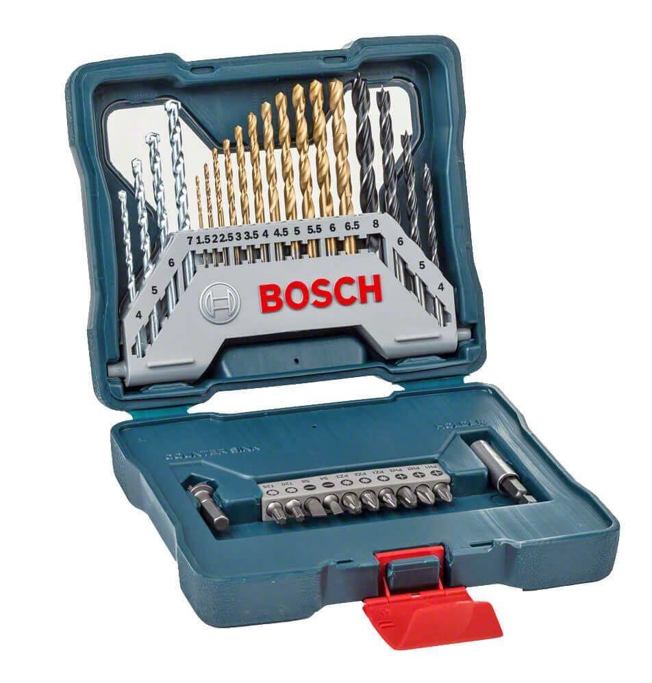 Kit de Brocas e Pontas X-LINE com 30 peças BOSCH 2607017401