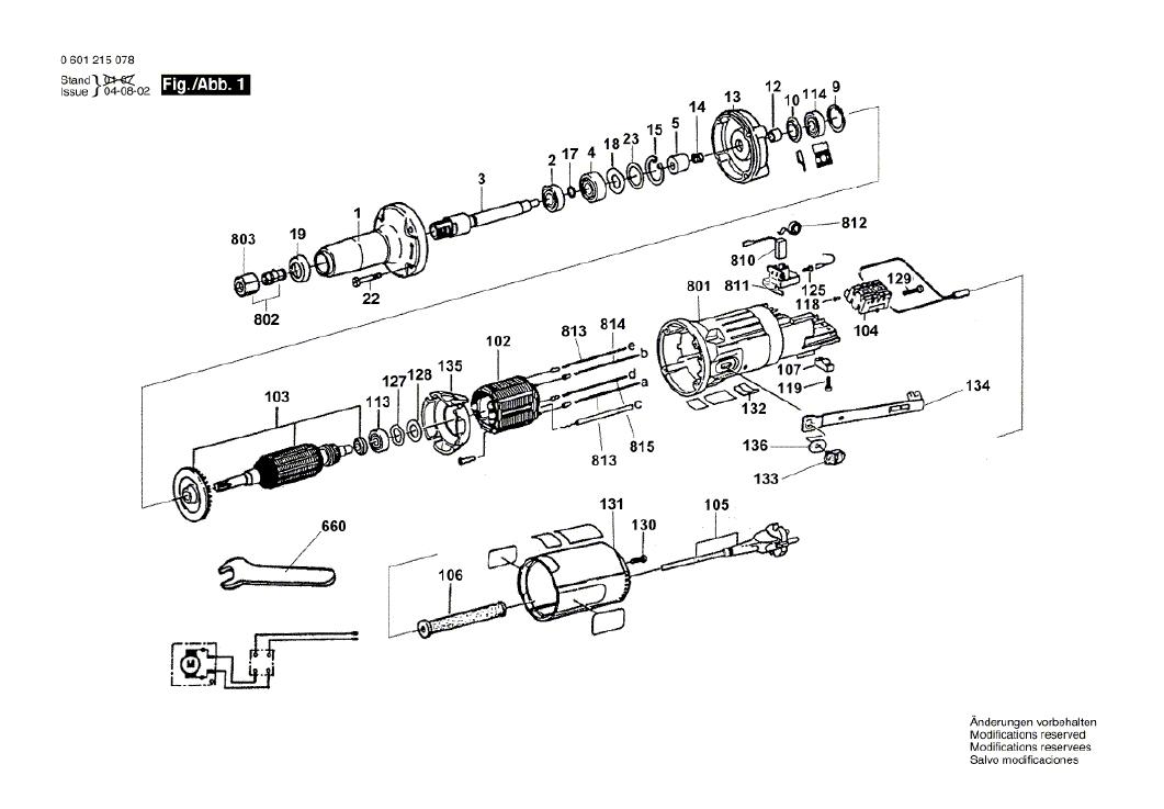 Vista Explodida Peças de Reposição Para Retifica GGS 27 L Bosch - 0601215078