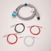 Cabo tronco de ECG 03 vias com eletrodos agulha monitores RM700VET, RM1000VET, RM1200VET